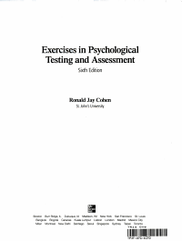 Exercises in Psychological Testing and Assessment Book
