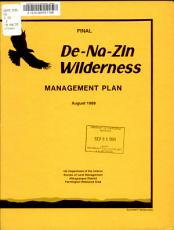 Final De na zin Wilderness Management Plan PDF