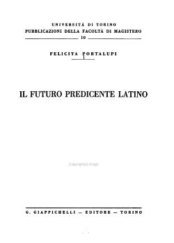 Il futuro predicente latino PDF