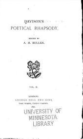 Poetical rhapsody: Volume 2