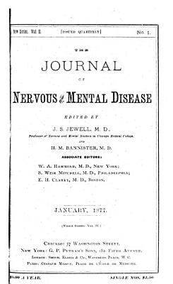 Journal of Nervous and Mental Disease PDF