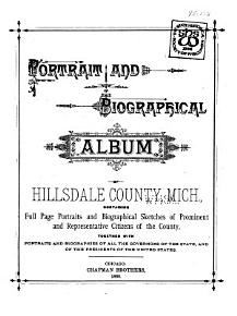 Portrait and Biographical Album of Hillsdale County  Mich PDF
