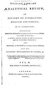 The Analytical Review, Or History of Literature, Domestic and Foreign, on an Enlarged Plan: Volume 11