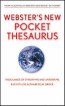 Webster s New World Pocket Thesaurus  Target Edition  PDF