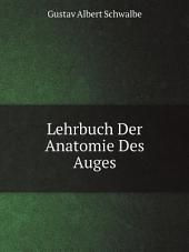 Lehrbuch Der Anatomie Des Auges
