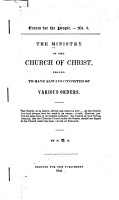 The Ministry of the Church of Christ PDF