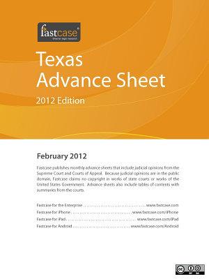 Texas Advance Sheet February 2012 PDF