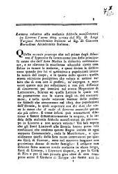 Lettera relativa alla malattia febbrile manifestatasi in Livorno l'anno 1804 scritta dal sig. d. Luigi Targioni accademico italiano al sig. d. Giacomo Barzellotti accademico italiano