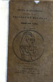Fruits of Enterprize Exhibited in the Travels of Belzoni in Egypt and Nubia: Interspersed with the Observations of a Mother to Her Children
