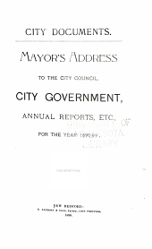 City Documents: Municipal Register, Mayor's Address, Annual Reports, Etc