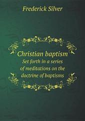 Christian baptism
