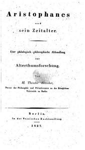 Aristophanes und sein Zeitalter