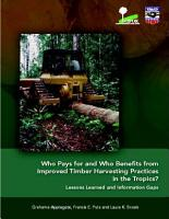 Who Pays for and who Benefits from Improved Timber Harvesting Practices in the Tropics  PDF