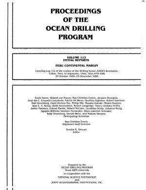 Proceedings of the Ocean Drilling Program