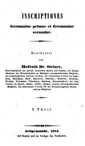Codex inscriptionum romanarum Danubii et Rheni: Bände 1-2