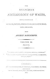 The Myvyrian archaiology of Wales: Prose, Volume 3