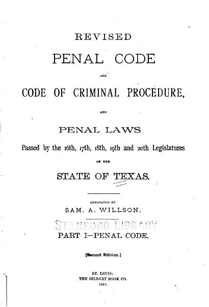 Download Revised Penal Code and Code of Criminal Procedure Book