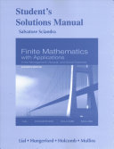 Student Solutions Manual for Finite Mathematics with Applications in the Management  Natural and Social Sciences PDF