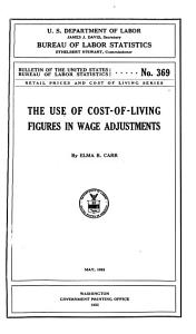 The Use of Cost of living Figures in Wage Adjustments PDF