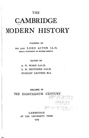 The Cambridge Modern History PDF