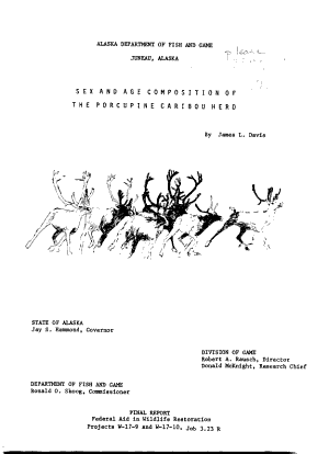Sex and Age Composition of the Porcupine Caribou Herd PDF