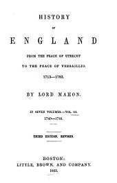 History of England: from the peace of Utrecht to the peace of Versailles, 1713-1783, Volume 3