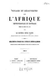 Voyages et découvertes dans l'Afrique Septentrionale et Centrale: pendant les années 1849 à 1855, Volume4