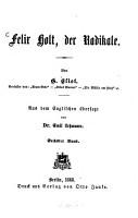 Felix Holt  der Radikale PDF