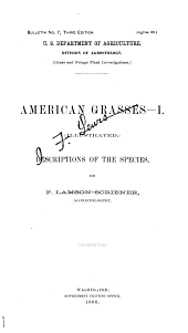 American Grasses: Illustrated Descriptions of the Species :