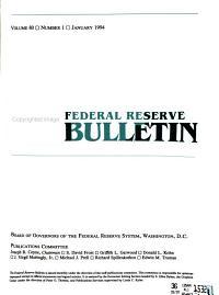 Federal Reserve Bulletin PDF