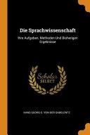 Die Sprachwissenschaft PDF