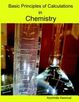 Basic Principles of Calculations in Chemistry PDF