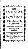 The School of Patience     Translated     by R  S  PDF