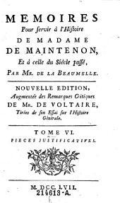Memoires pour servir a l'histoire de Madame de Maintenon, et a celle du siecle passe: 6, Volume2