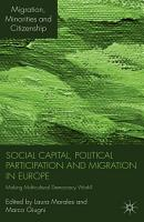 Social Capital  Political Participation and Migration in Europe PDF