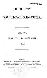 Cobbett S Weekly Political Register Book PDF