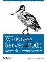 Windows Server 2003 Network Administration PDF
