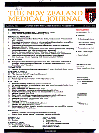 New Zealand Medical Journal PDF