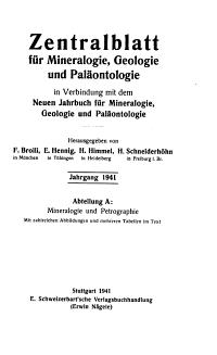 Zentralblatt f  r Mineralogie  Geologie und Pal  ontologie PDF