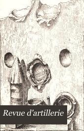 Revue d'artillerie: Volume22