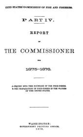 Report of the Commissioner - United States Commission of Fish and Fisheries: Volume 4