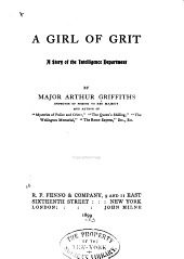 A Girl of Grit: A Story of the Intelligence Department