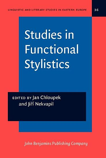Studies in Functional Stylistics PDF