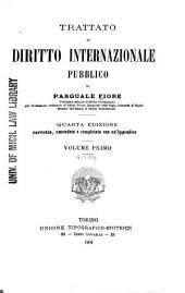 Trattato di diritto internazionale pubblico: Volumi 1-3