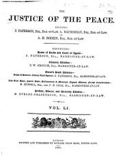 Justice of the Peace: Volume 51