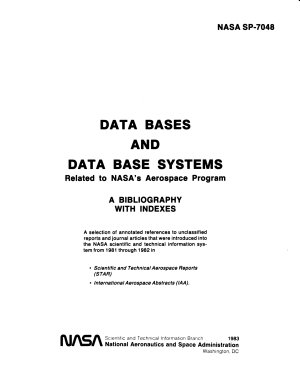 Data Bases and Data Base Systems Related to NASA s Aerospace Program