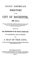 Daily American Directory of the City of Rochester PDF