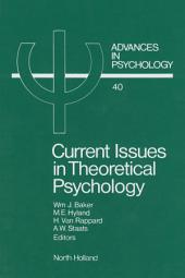 Current Issues in Theoretical Psychology