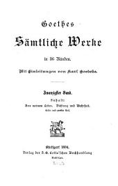 Goethes sämtliche werke: Aus meinem Leben