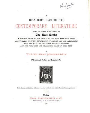 A Reader s Guide to Contemporary Literature PDF
